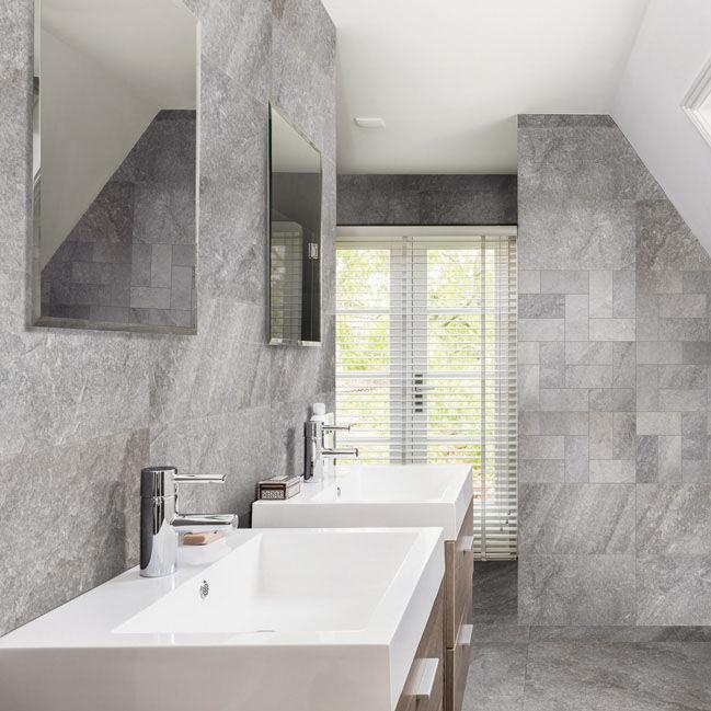 Fliesen Für Badezimmer Für Wände Keramik X Cm FOSSIL - Badezimmer fliesen 30x60