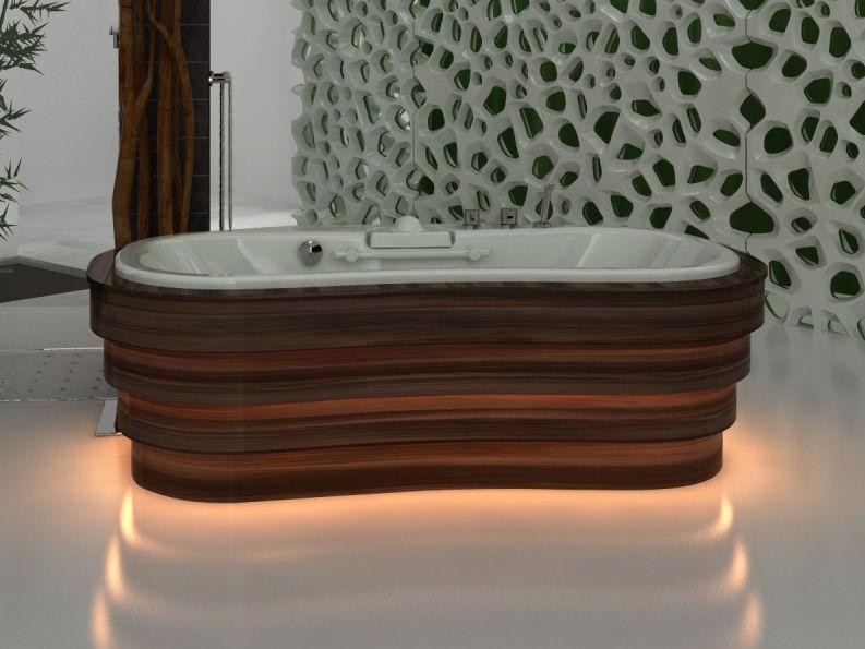 Freistehende badewanne holz  Freistehende Badewanne / Holz / doppelt - VIS À VIS - Trautwein