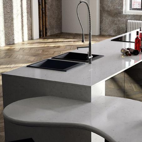 Arbeitsplatte Aus Quartz Composit Kuchen Carrara Compac The