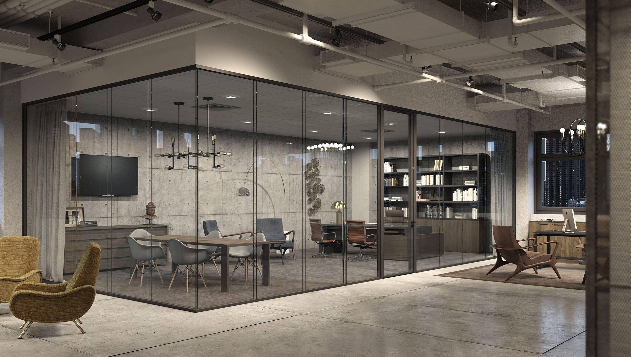 Büro design holz  Transportierbare Trennwand / aus Holz / verglast / Büro - FIMO ...