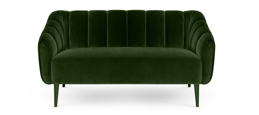 Sofa Samt Grün klassisches sofa samt 2 plätze grün houston munna