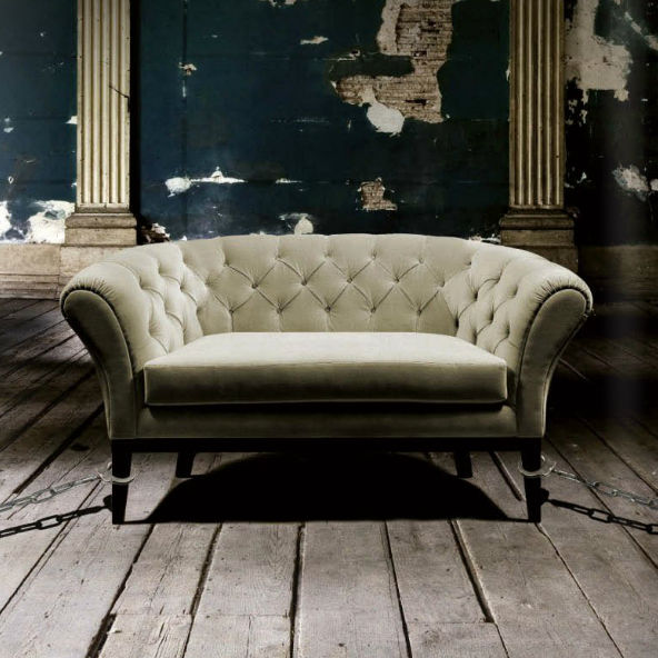 Chesterfield Sofa Samt 2 Platze Grau Be Mine Munna
