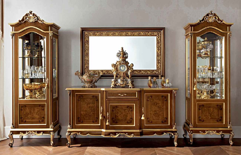 Hochbeiniges Sideboard Stil Holz Casanova 12105 Modenese