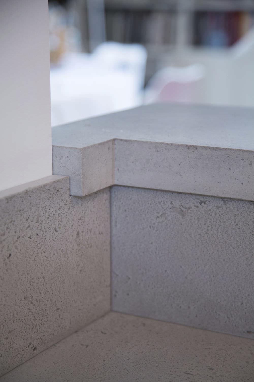 Beton-Arbeitsplatte / Küchen - Cuisine & crédence en béton ...   {Arbeitsplatte aus beton 28}
