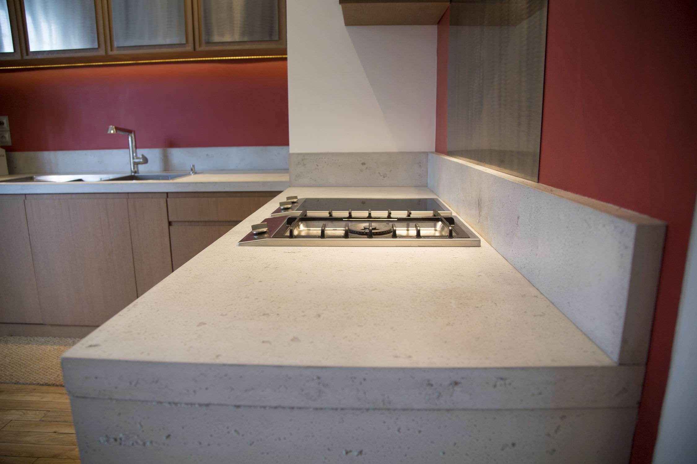 Beton-Arbeitsplatte / Küchen - Béton Lège & PANBETON® BANCHE ... | {Arbeitsplatte küche beton 33}