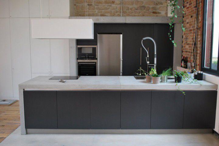 arbeitsplatte küche beton | frank-architekt