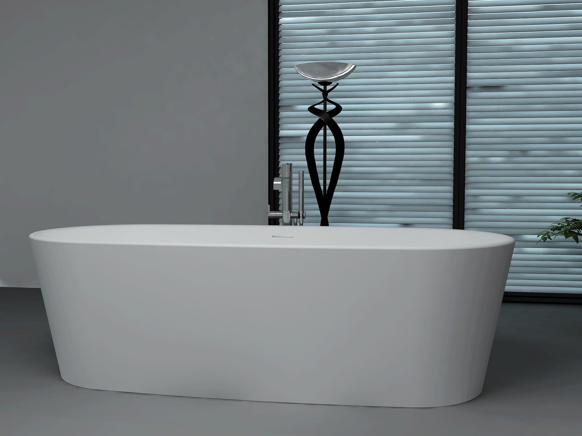 Fußboden Aus Mineralwerkstoff ~ Freistehende badewanne oval mineralwerkstoff bs s bella