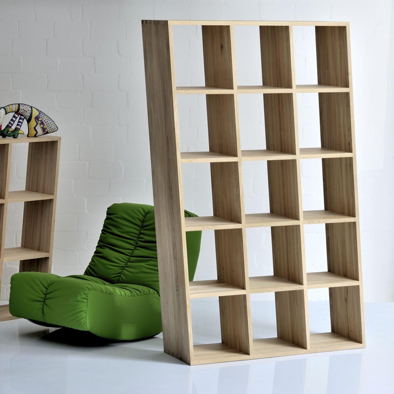 trennwand-regal / originelles design / aus eiche / nussbaum - pisa