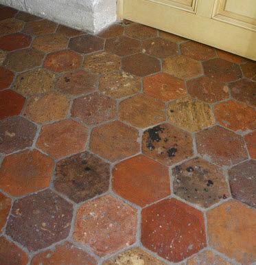 Innenraum Fliesen Boden Aus Terrakotta Matt French Reclaimed