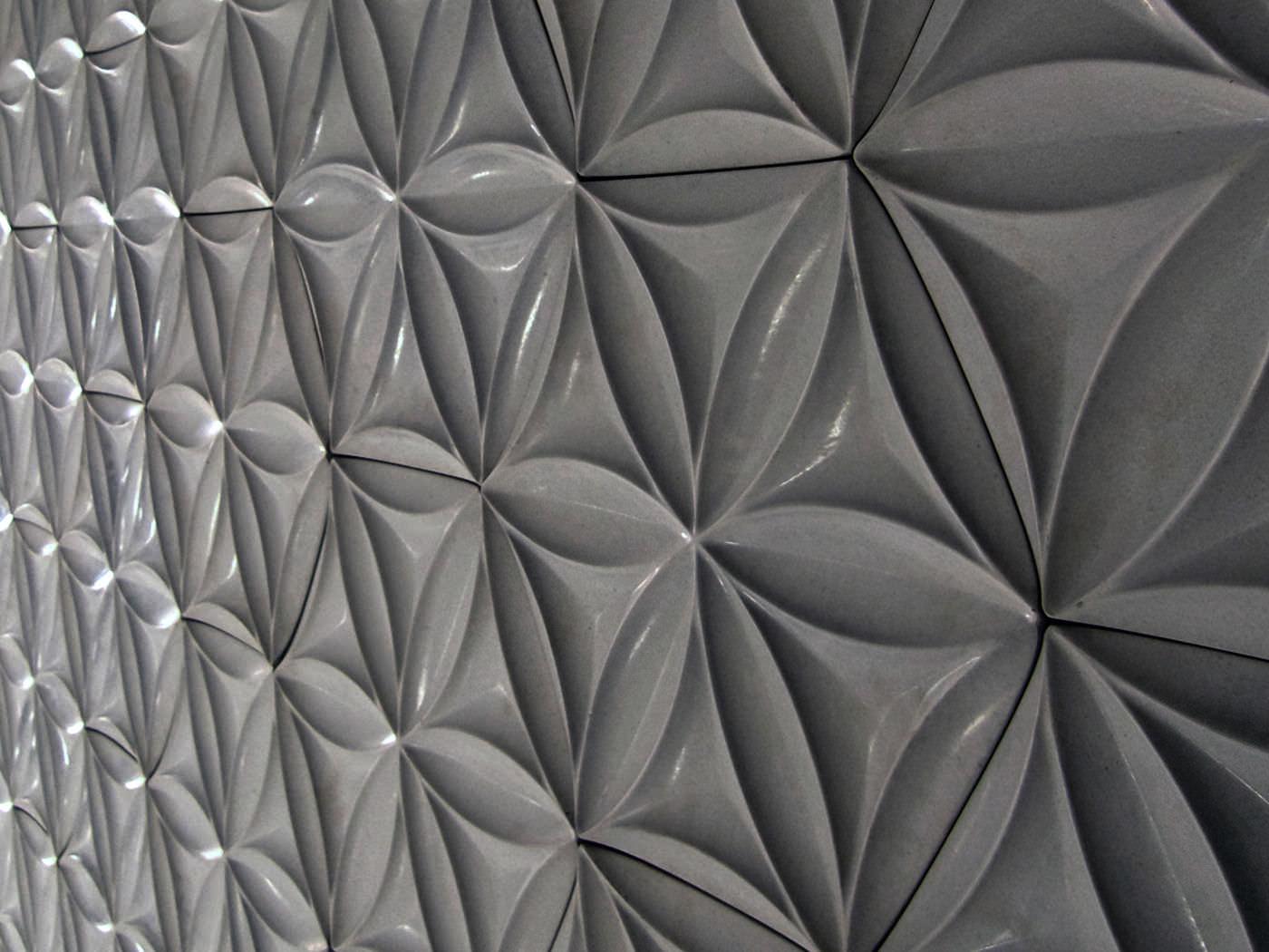 innenbereich-fliesen / für wände / beton / mit geometrischem, Badezimmer ideen
