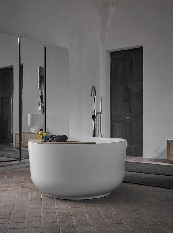 Freistehende Badewanne / rund / aus Marmor - ORIGIN by Seung-Yong ... | {Freistehende badewanne rund 86}