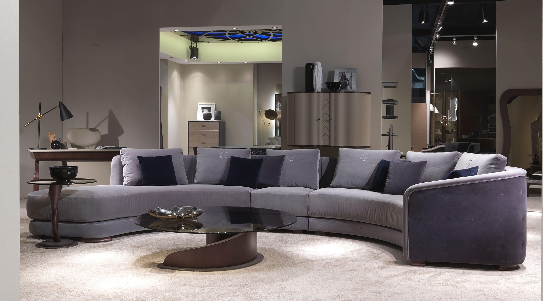 Sofa modern stoff  Halbrundes Sofa / modern / Stoff / 6 Plätze - DI43 DESYO CURVY ...