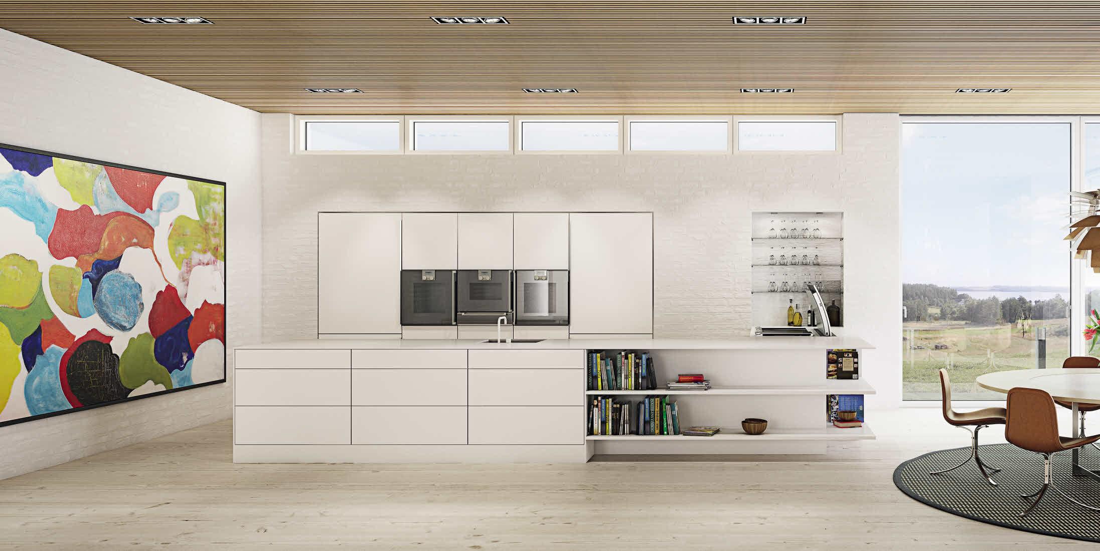 Moderne küche / aus eiche / holzfurnier / kochinsel   u series ...