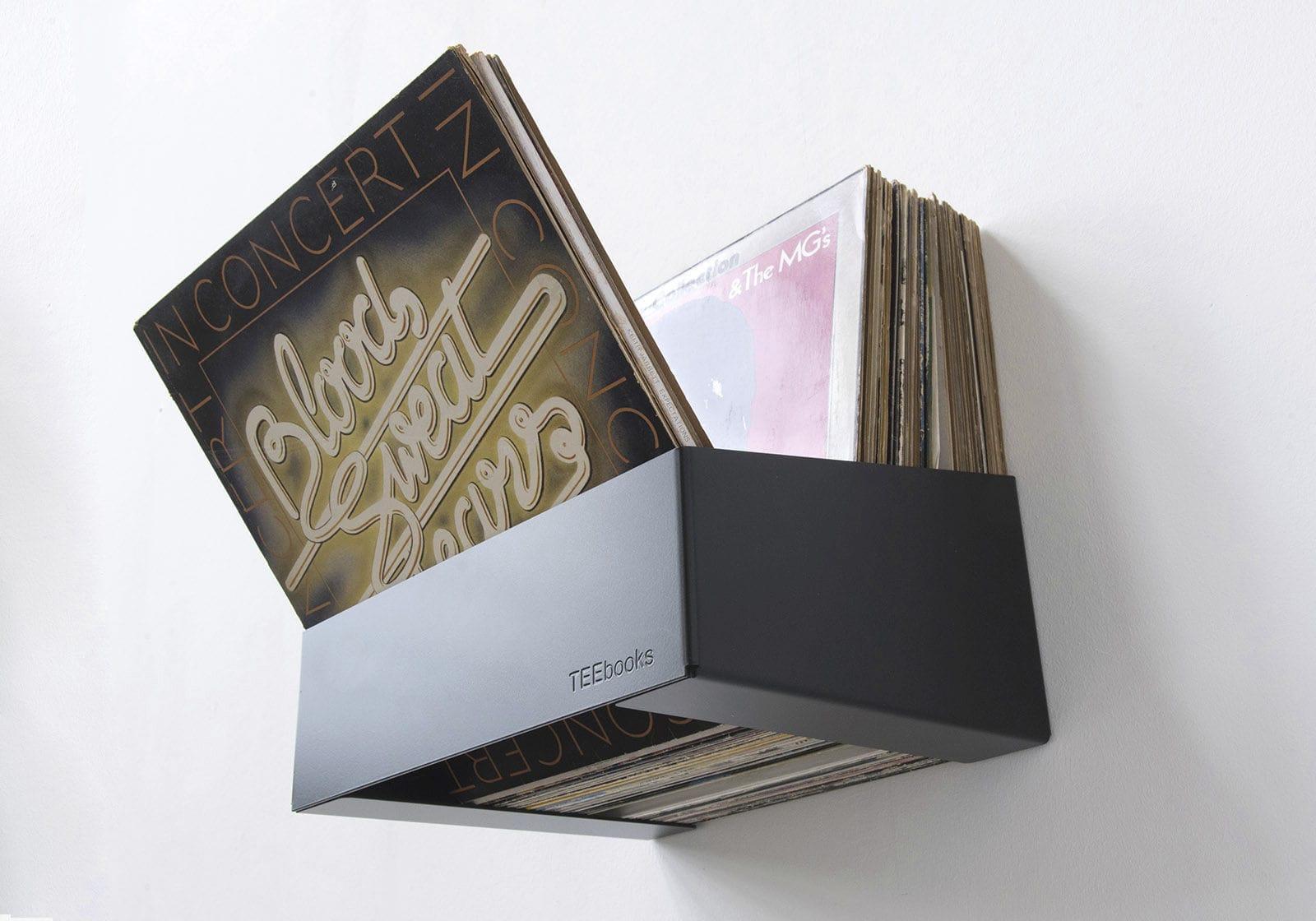 Regal für Schallplatten / wandmontiert / modern / Stahl - TEENYLE ...