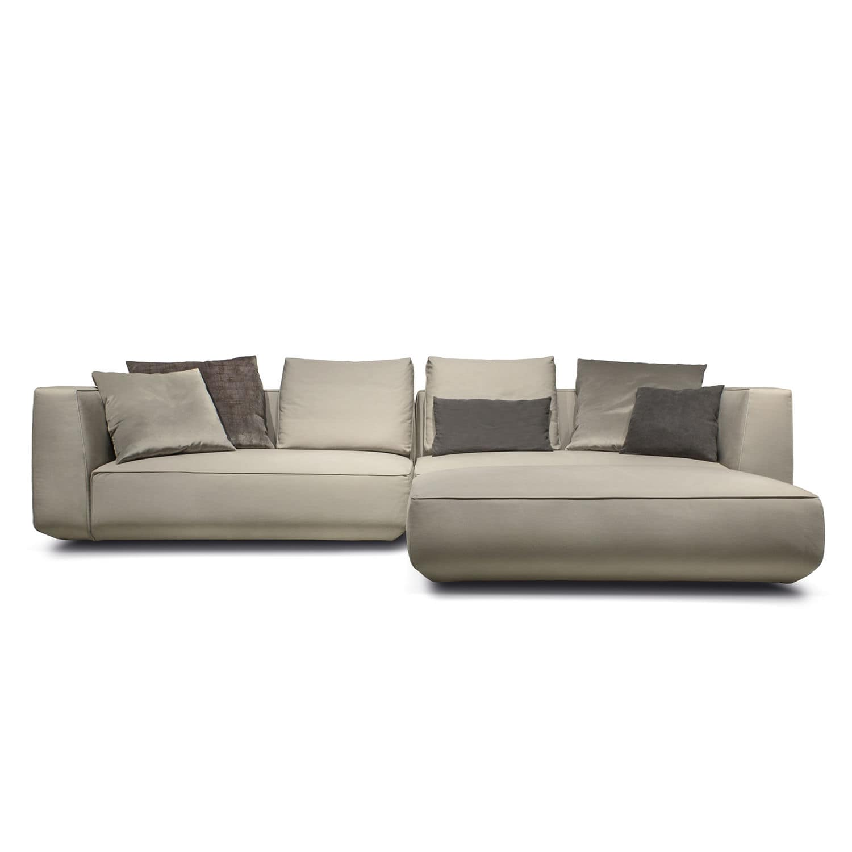 Sofa modern stoff grau  Modulierbares Sofa / modern / Stoff / Leder - OLTRE - art nova srl
