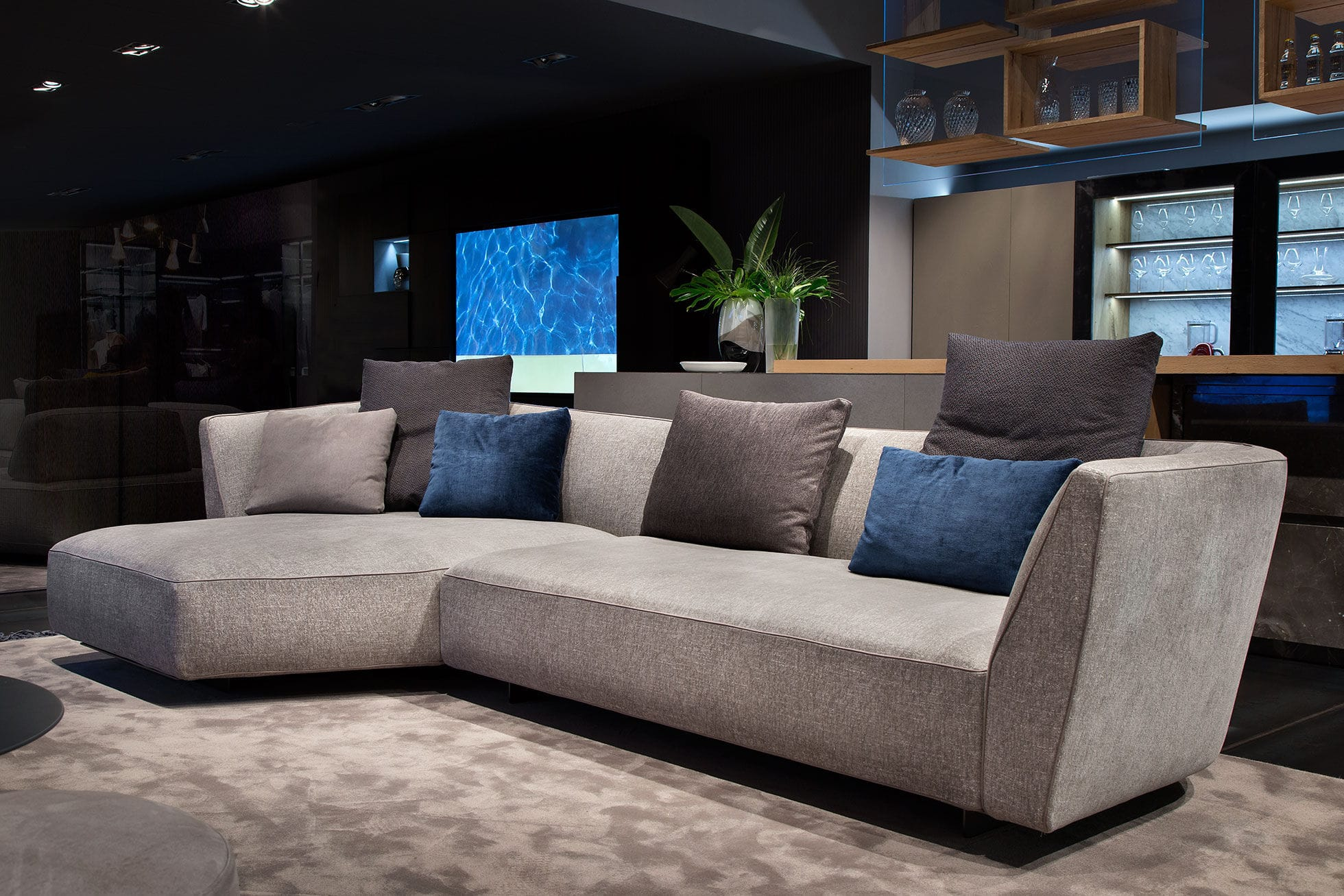 Sofa modern stoff grau  Modulierbares Sofa / modern / Stoff / braun - CLOUD - art nova srl