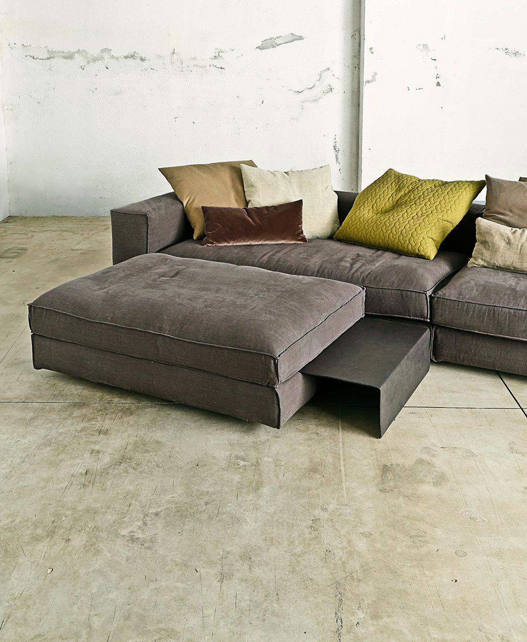 Sofa modern braun  Modulierbares Sofa / modern / Stoffbezug / braun - SHABBY - art ...