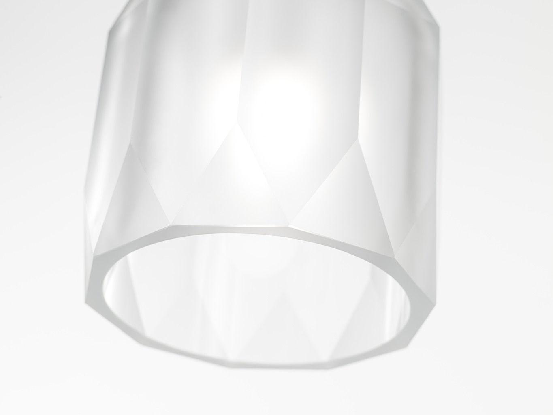 Hängelampe / modern / geblasenes Glas / aus Edelstahl - POLYGON by ...