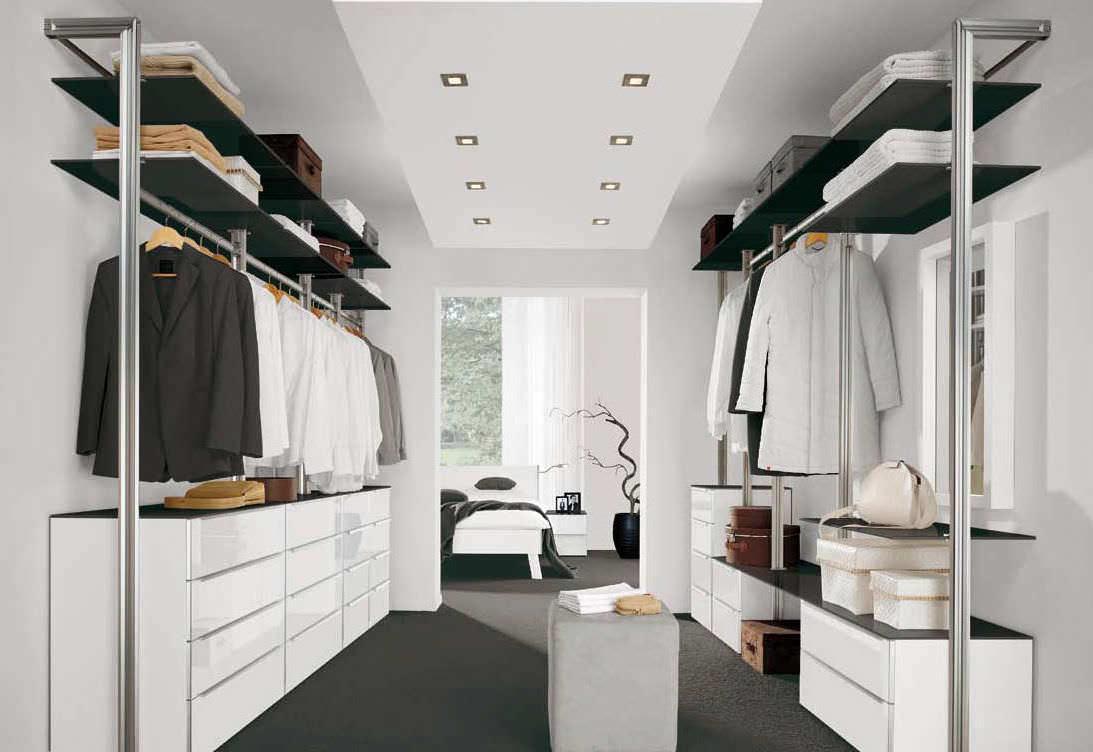 Begehbarer kleiderschrank modern  Begehbarer -Kleiderschrank / Holz - ARIAS - Nolte