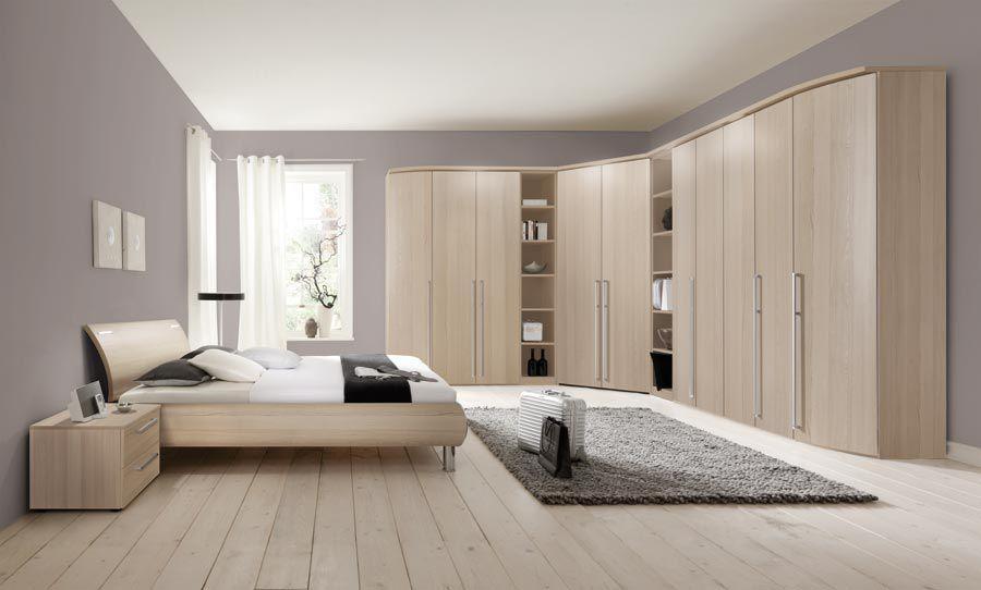 Eckkleiderschrank / modern / Holz / Schwingtüren - COLUMBUS - Nolte