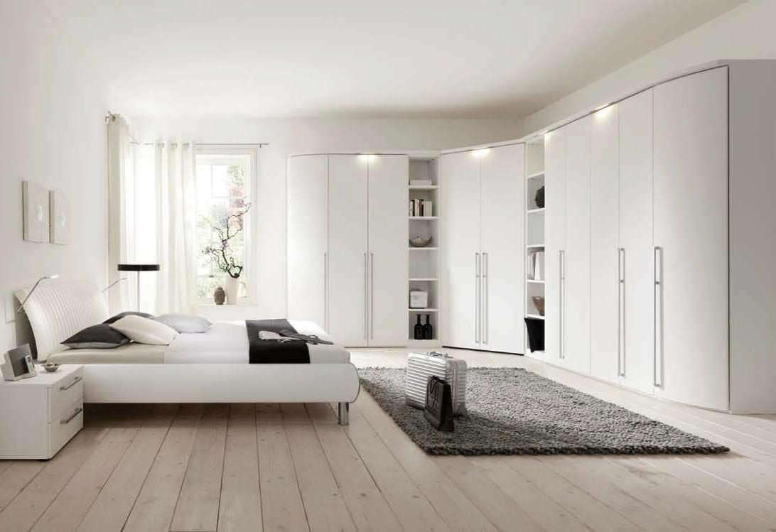 Schlafzimmerschrank weiß modern  Eckkleiderschrank / modern / Holz / Schwingtüren - COLUMBUS - Nolte