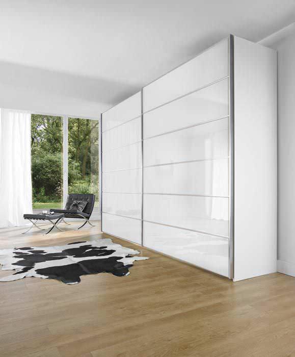 Kleiderschrank weiß schiebetüren spiegel  Moderner Kleiderschrank / Glas / Schiebetüren / Spiegel - ORA - Nolte