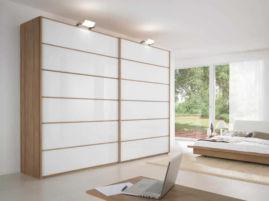 Moderner Kleiderschrank Glas Schiebeturen Spiegel Ora Nolte