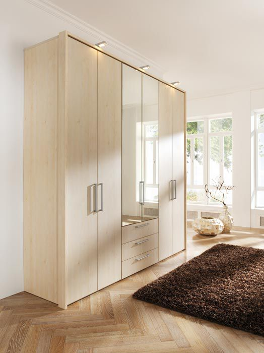 Moderner Kleiderschrank / Holz / Schwingtüren - HORIZONT 8000 - Nolte