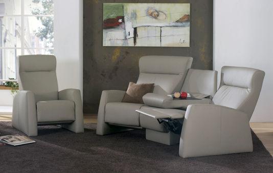Klassisches Sofa / Leder / 3 Plätze / schrägstellbar - TANGRAM ...