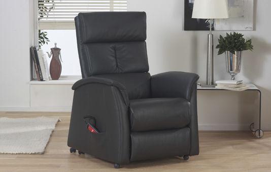 Klassischer Sessel / Leder / mit Fußstütze / schrägstellbar ...