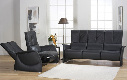 Klassisches Sofa / Leder / 3 Plätze / schrägstellbar - CUMULY ...