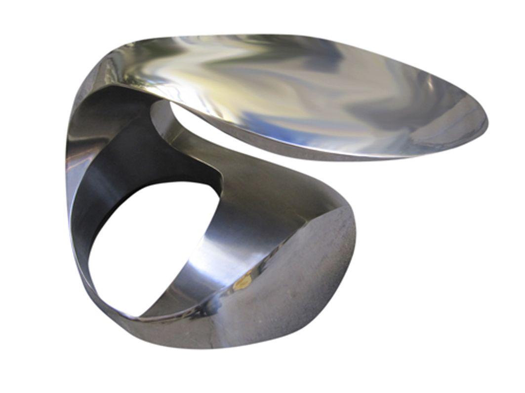 Couchtisch Rund Oval ~ Couchtisch originelles design edelstahl rund oval