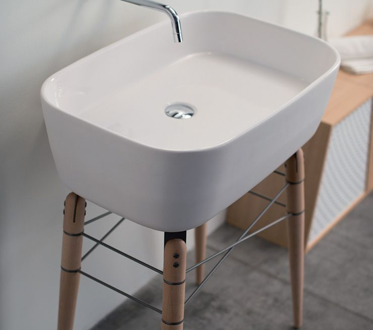 Freistehend-Waschbecken / Keramik / modern / mit verstellbarem ... | {Waschbecken freistehend 9}