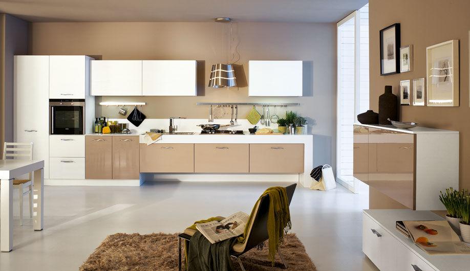Moderne Küche / Holz / lackiert / Hochglanz - SOLE - Arrex
