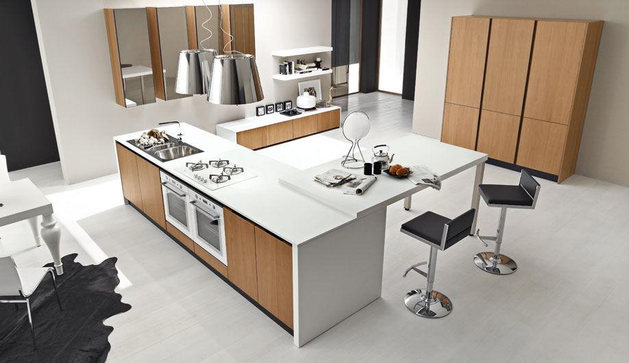Moderne Küche / Nussbaum / Kochinsel - TOPAZIO - Arrex