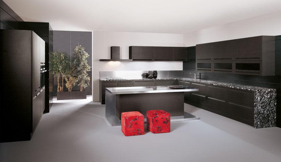 Moderne Küche / Massivholz / Kochinsel / lackiert - IBISCO - Arrex | {Moderne küchen mit kochinsel grau 11}