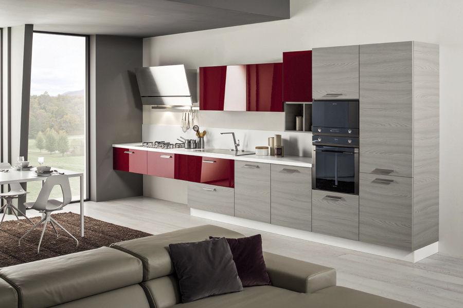 Moderne Küche / Laminat / lackiert / mit Griffen - MANGO - Arrex