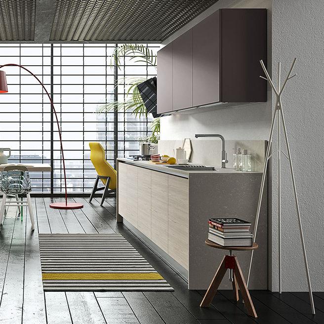Moderne Küche / Holz / ohne Griff - NAVARRA: NEW-YORK - Ar-Tre