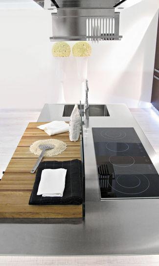 Moderne Küche / Holz / Edelstahl / Kochinsel - HOUSE ORGANIC 5 ...