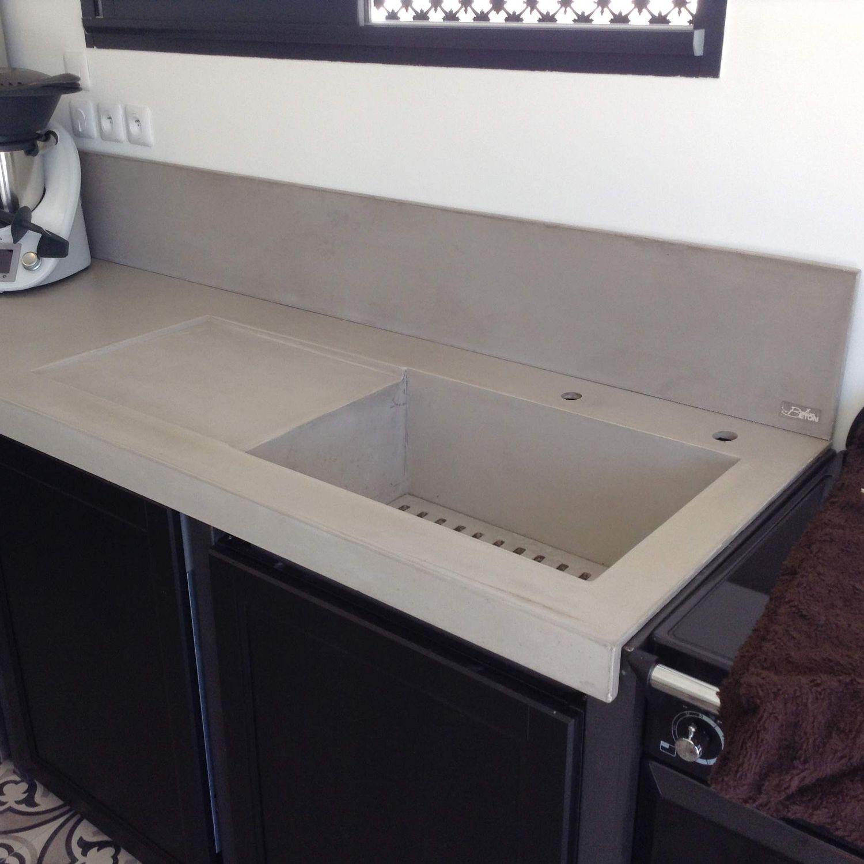 Arbeitsplatte / bfuhp Ductal© Beton / Küchen - EN ENCASTREMENT ...