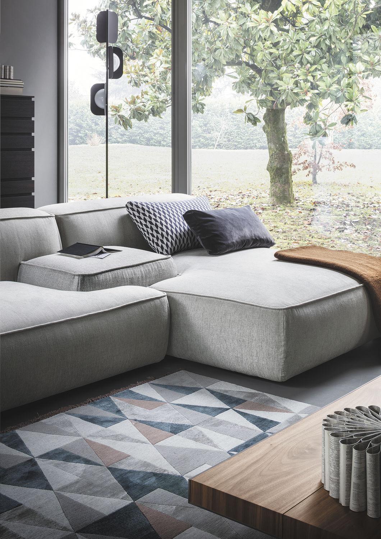 Sofa modern stoff grau  Modulierbares Sofa / modern / Stoff / grau - CLOUD by Francesco ...