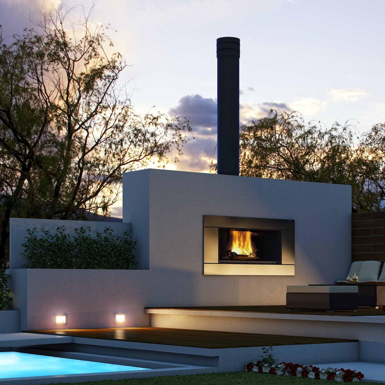 holzbefeuerter kamin / modern / offene feuerstellen / einbau