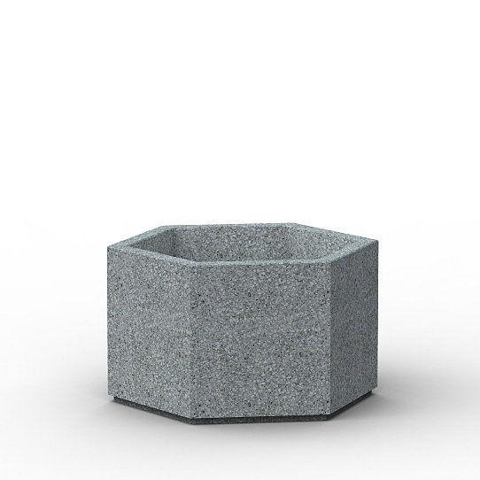 Beton-Pflanzkübel / sechseckig / modern / für öffentliche Bereiche ...