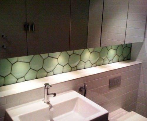 innen-mosaikfliese / für badezimmer / für wände / glas - 3d, Badezimmer ideen
