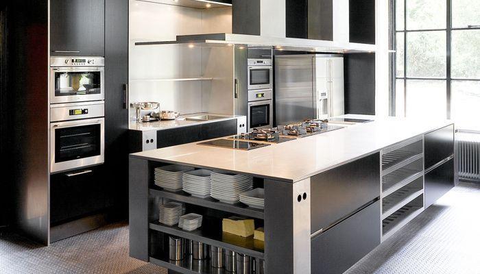 ... Moderne Küche / Edelstahl / Laminat / Kochinsel