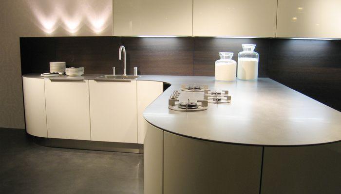 edelstahl-arbeitsplatte / küchen - 4mm - abk innovent - Küche Mit Edelstahl Arbeitsplatte