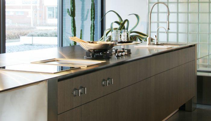 edelstahl-arbeitsplatte / küchen - 4mm - abk innovent - Edelstahl Arbeitsplatte Küche