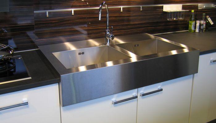 edelstahl-arbeitsplatte / küchen - abk innovent