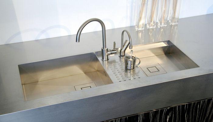 doppelbeckenspüle / edelstahl - baronga - abk innovent - Spülbecken Küche Edelstahl