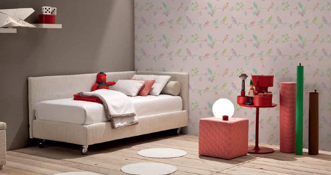 Einzelbett modern  Standardbett / Einzel / modern / Stoff - JOY MOD.2 - V.&NICE